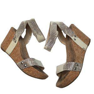 Lucky Brand 7.5 Snakeskin Wedge Heel